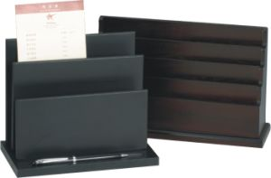 Desk Type Hotel Wooden Magazine Holder pictures & photos