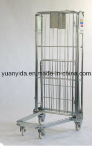 4 Sided Collapsible Zinc Plated Hand Trolley/Roll Containers/Roll Pallets pictures & photos