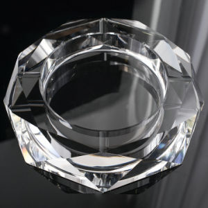 Round Glass Crystal Cigar Ashtray for Hotel Decoration (KS13031) pictures & photos