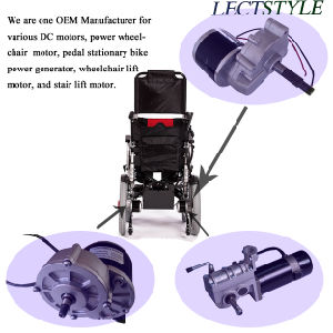 250W 24V High Back Folding Mobility Power Wheelchair Motor pictures & photos