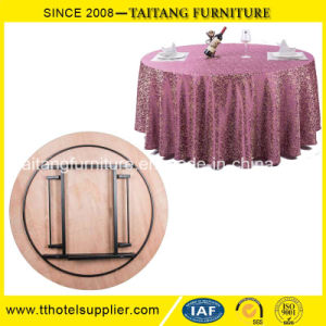 Hotel and Restaurant Modern Round Folding Table pictures & photos