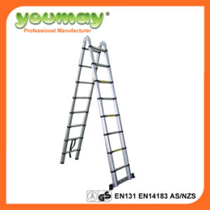 En131 Aluminum Telescopic Ladder At0216A/Attic Ladders/Ladder with Hinge
