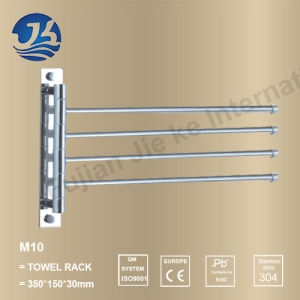 Bathroom Movable Turn Around Stainless Steel Towel Bar (M10) pictures & photos
