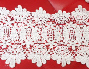 004 Fashion New Design Poly Cotton Garment Lace Fabric Poly Lace pictures & photos