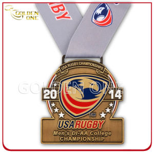 Rugby Championship Antique Brass Plated Soft Enamel Medal pictures & photos