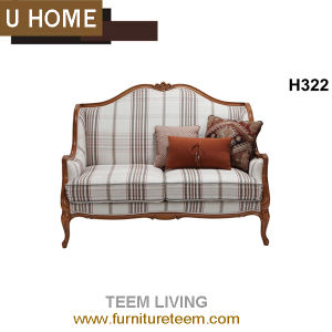 French Modern Living Room Furniture Fabric 2 Seat Love Sofa pictures & photos