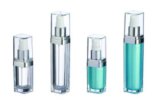 Cosmetic Acrylic Lotion Bottle, Square Series pictures & photos