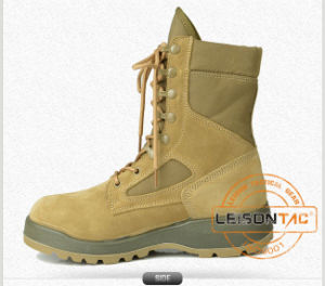 Tactical Boots of Superior Suede Bovine Leather/ Waterproof Fabric with Exquisite Sewing Technology pictures & photos