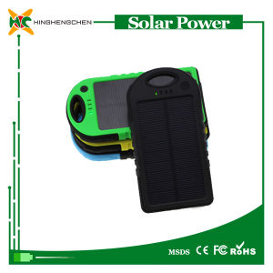10000mAh Waterproof Shockproof Portable Wireless Mobile Phone Solar Power Bank Charger pictures & photos