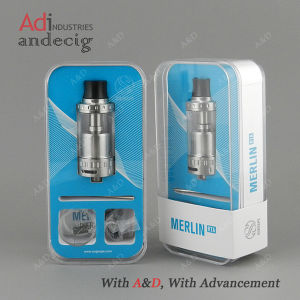 Authentic Augvape Merlin Rta Atomizer 23mm Black Silver in Stock pictures & photos