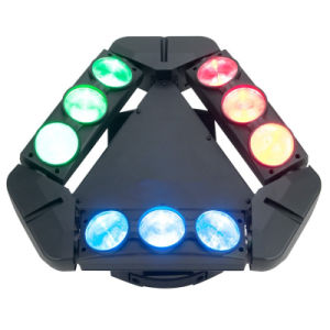 9PCS 12W 4in1 Infinite Rotating LED Moving Head Spider Light pictures & photos