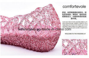 Lady Latest High Quality Crystal Jelly Sandals (FF614-6) pictures & photos