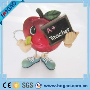 Resin Red Apple on Table for Christmas Decoration pictures & photos