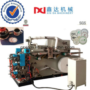 Automatic Counting Cutting Type High Speed Embossed Printing Tissue Cup Coaster Machine pictures & photos
