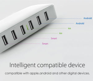 Travel Universal Mobile 6 Ports USB Desktop Multi Fast Charger (ID535)