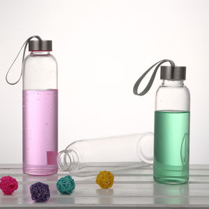 Glass Bottle for Water with Hanging Thread pictures & photos