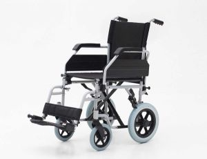"Steel Manual, 12"" Wheel, Folding Wheelchair (YJ-021C) pictures & photos"