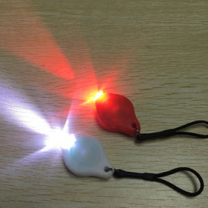 Promotion ABS Material Color Option Red White LED Bike Safety Warning Light Set Mini Key Chain Light for Runner pictures & photos