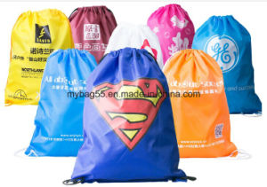 Wholesale Manufacturer Promotion PP Tote Drawstring Bags pictures & photos