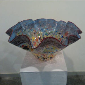 Hand Blown Murano Glass Bowl for Decoration