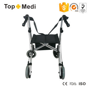 High End Foldable Aluminum Disability Rollator Walker Shopping Cart pictures & photos