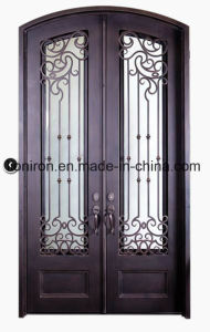 Eyebrow Top Nice Iron Exterior Door for House pictures & photos