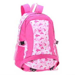 Pink Backpack with Shoe Compartment for High School Students pictures & photos