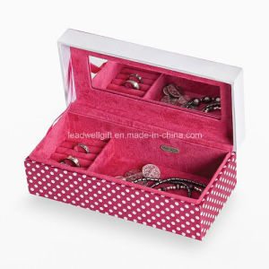 "Polka-DOT ""Love"" Jewelry Box with Mirror Jewelry Case pictures & photos"