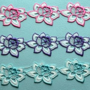 Embroidery Polyester and Cotton Trimming Lace pictures & photos