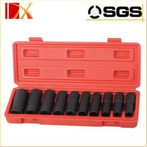 Hand Tool Set 10PCS Pneumatic Deep Socket Set (DX-WTA-9110) pictures & photos