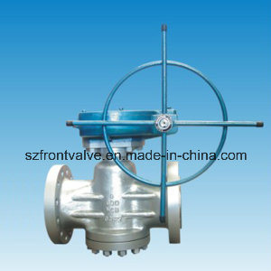 Cast Steel Flanged End Plug Valve pictures & photos