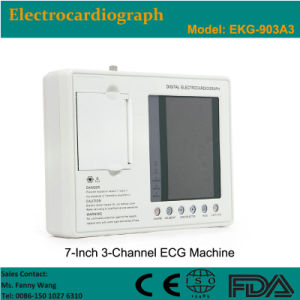 CE Approved Digital 3-Channel Color Electrocardiograph ECG (EKG-903A3) -Fanny pictures & photos