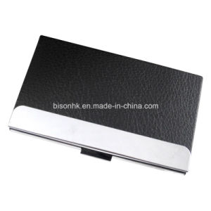 Elegant PU Business Card Holder for Business Gift pictures & photos