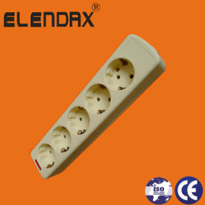 Europe Style 5 Way Power Extension Socket with Earth and Switch (E9005ES) pictures & photos