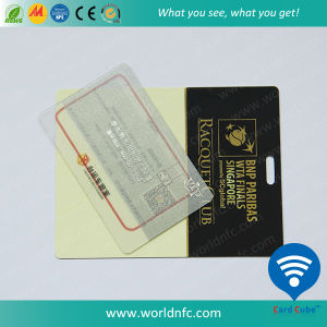 Plastic Transparent Smart Card with F08 RFID Card for VIP Card pictures & photos