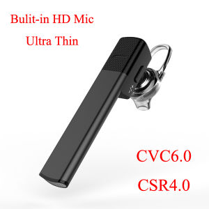 Built in HD Microphone Noice Cancelling Universal CSR4.0 Business Bluetooth Headset pictures & photos