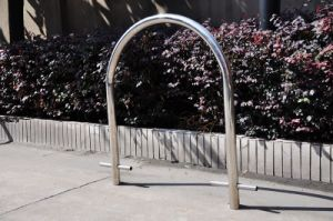 Floor Stainless Steel U Style Bike Stand Rack pictures & photos