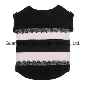 American Designed Hot Sale Girl′s Vest with Lace Shoulder