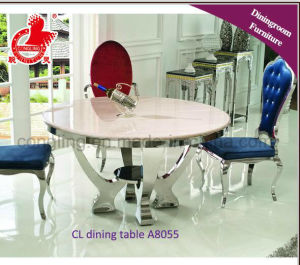 Double Glass Stainless Steel Feet Dining Room Furniture pictures & photos