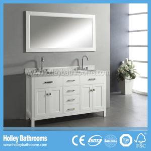 Delicate Multi Space Bathroom Sink with 2 Mirror Cabinets and Basins (BV193W) pictures & photos