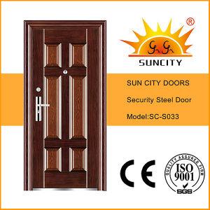 New 6 Panel Steel Door Design (SC-S033) pictures & photos