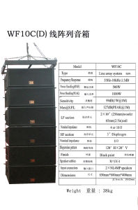 "10"" Line Array Speaker System"