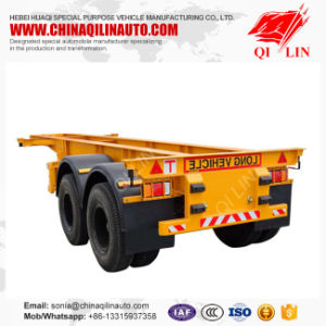 2 Axle Skeleton Container Chassis or Truck Semi Trailer pictures & photos