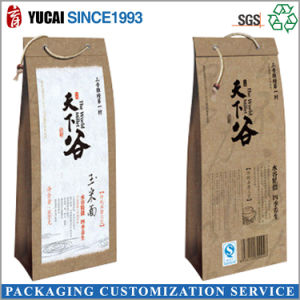 Food Sealing Kraft Paper Bag with Drawstring pictures & photos