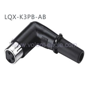 Competitive Audio Connectors 3-Pin Angle Female Blackxlr Connector with RoHS pictures & photos