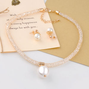 Elegant Crystal Fashion Pearl Beads Jewelry Set Pearl Jewellery pictures & photos