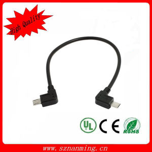 Right Angle Male Micro USB to Right Angle Male Micro USB Cable pictures & photos