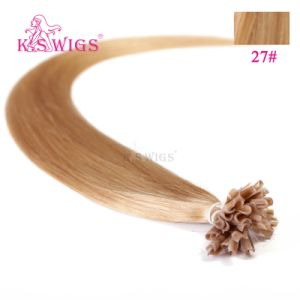 Grade Aaaaa Quality 100% Blonde Brazilian Remy U-Tip Hair Extension pictures & photos