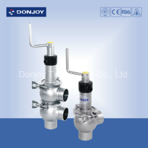 Ss 304 Pneumatic Single Seat Reversing Valve Clamped Ends pictures & photos