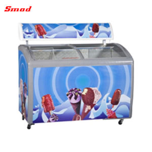 Commercial Sliding Glass Door Ice Cream Chest Freezer pictures & photos